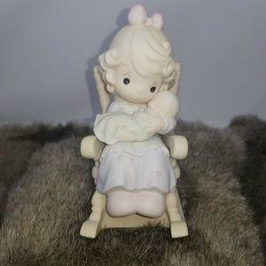 "Precious Moments Figurine - ""Love Never Leaves A M"